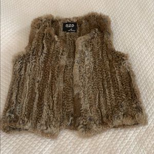 525 America Luxe Real Fur Vest M